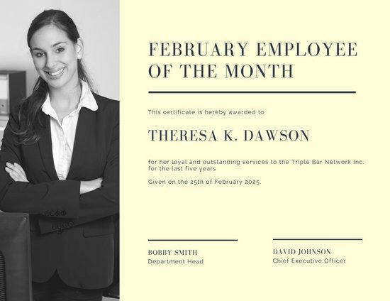 Employee Of the Month Online Unique Customize 1 508 Employee the Month Certificate
