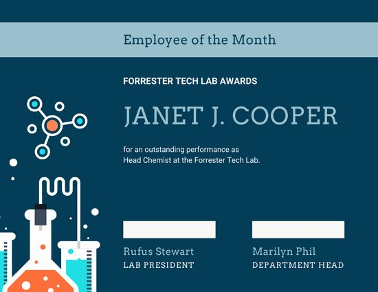 Employee Of the Month Online Unique Customize 144 Employee the Month Certificate Templates