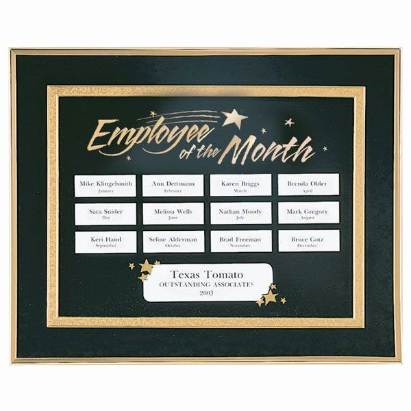 Employee Of the Month Photo Frame Template Elegant Perpetual Recognition Program Employee Of the Month