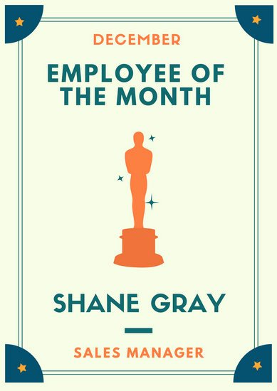 Employee Of the Month Photo Frame Template Fresh Design Templates Canva