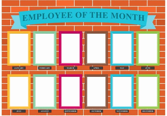 Employee Of the Month Photo Frame Template Lovely Employee the Month Wall Vector Download Free Vectors