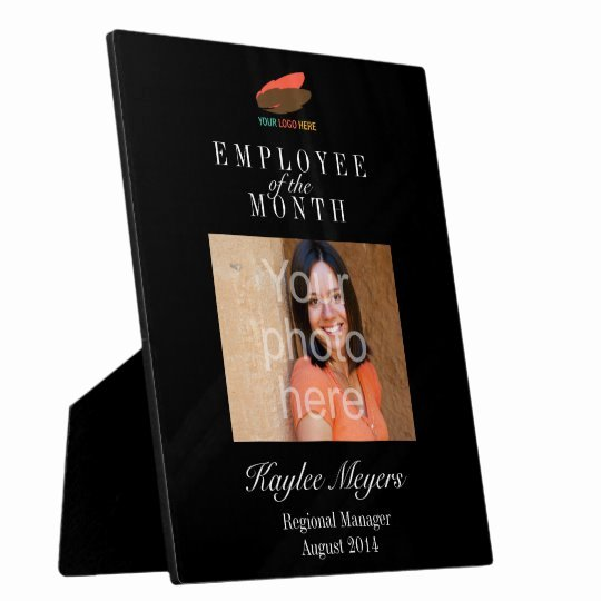 Employee Of the Month Photo Frame Template Luxury Business Logo Employee Of the Month Photo Award Plaque