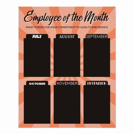 Employee Of the Month Photo Frame Template Unique 4x6 Photo Board Employee Of the Month Poster