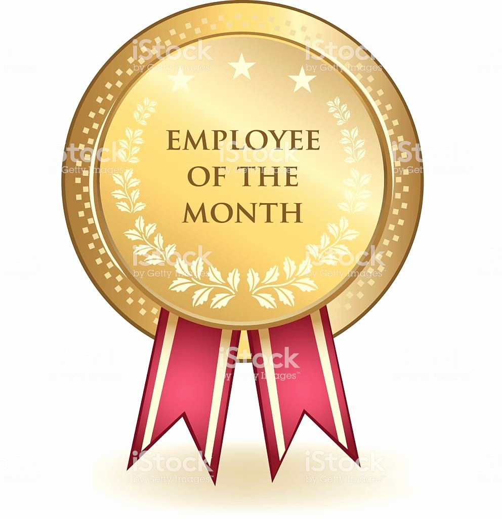 Employee Of the Month Photo Inspirational Employee the Month Award Stock Illustration Download