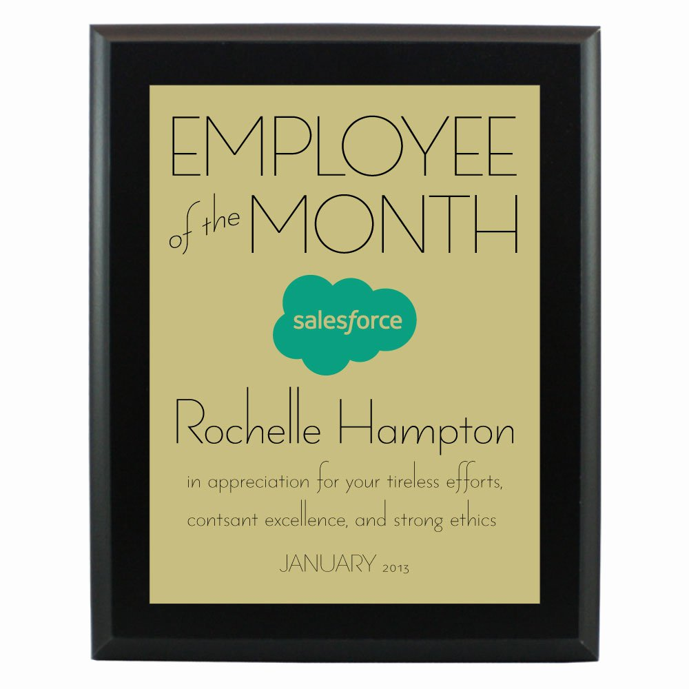 Employee Of the Month Photo Lovely Custom Plaques for Employee Recognition Programs