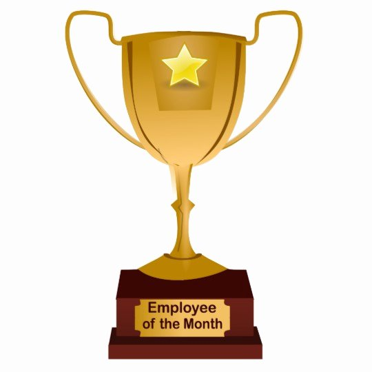 Employee Of the Month Photo Lovely Employee Of the Month Award Golden Trophy Standing