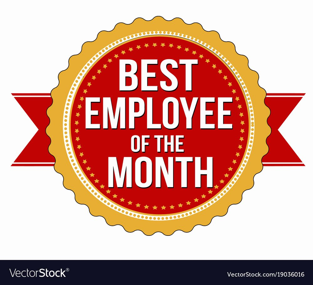 Employee Of the Month Photo Lovely Employee Of the Month Label or Stamp Royalty Free Vector