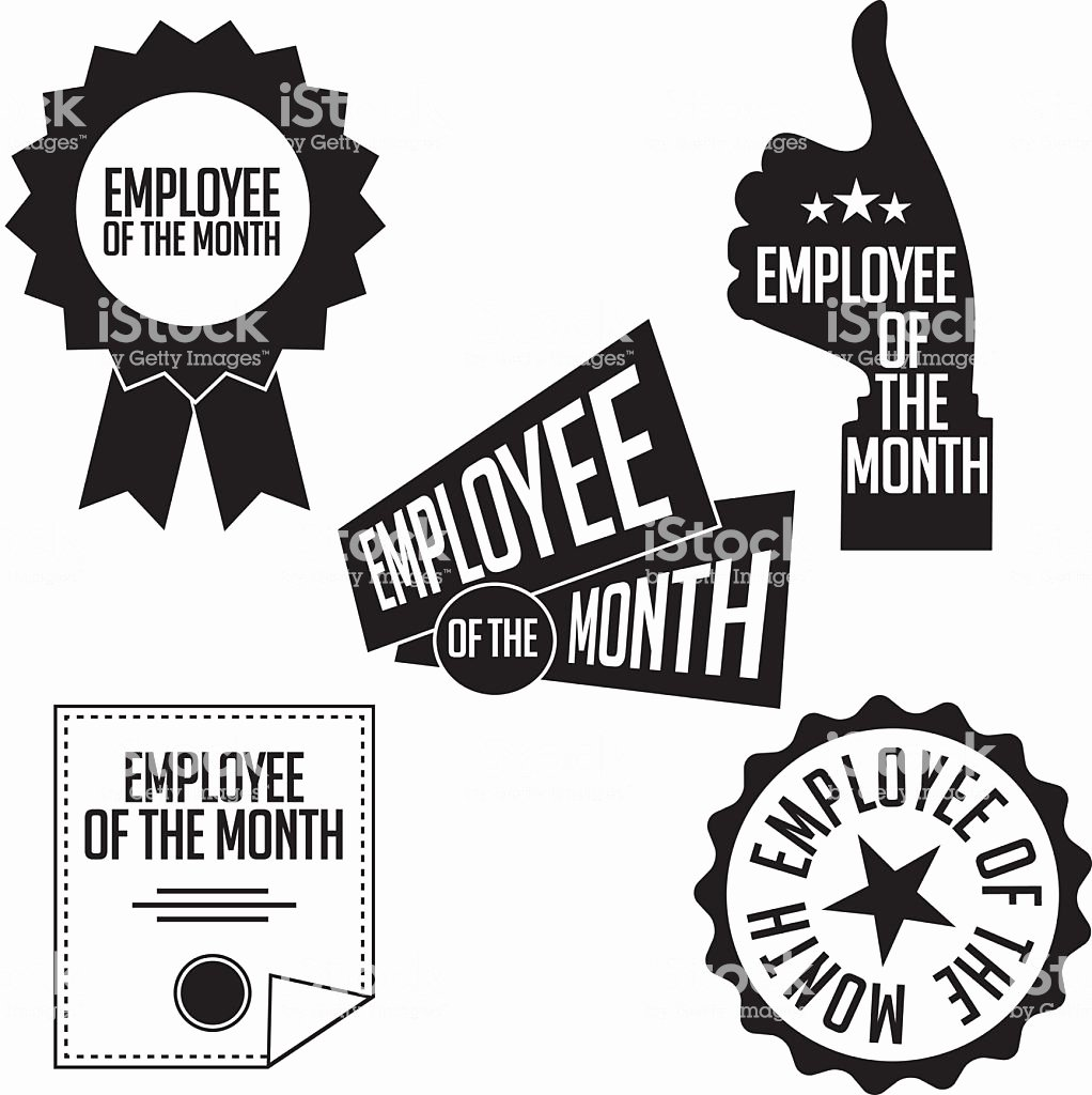 Employee Of the Month Photo Lovely Employee the Month Black and White Icons and Stamps