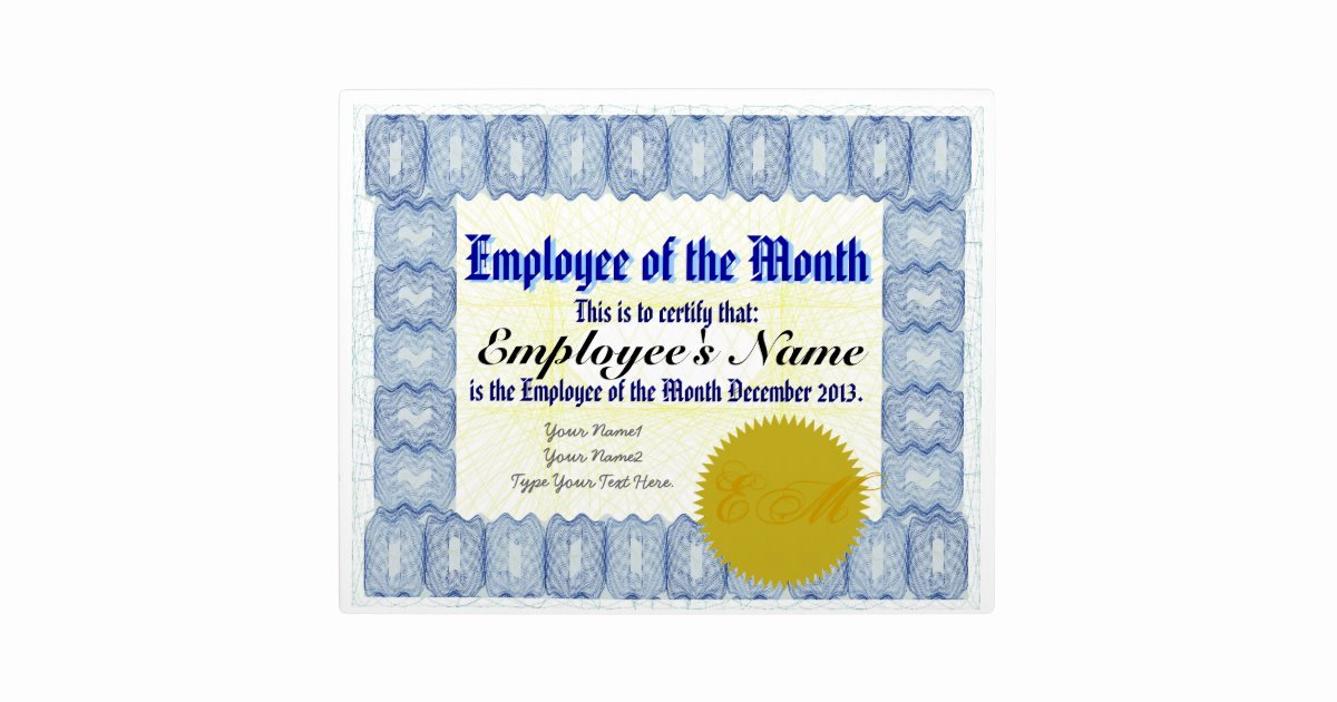 Employee Of the Month Photo Unique Employee Of the Month Certificate Plaque