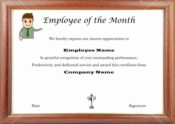 Employee Of the Month Picture Frame Inspirational 15 Best Employee Of the Month Certificates Images On