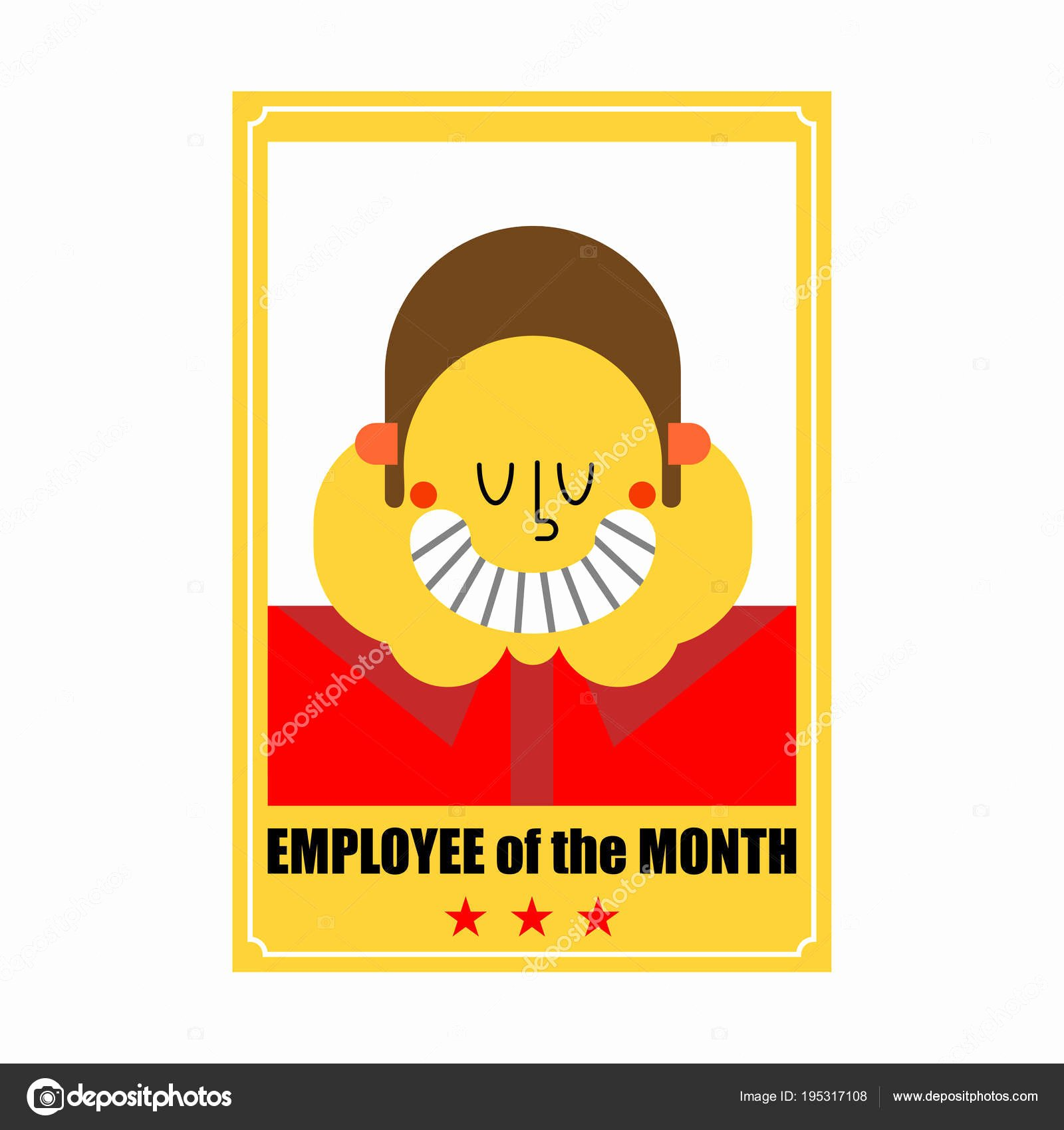 Employee Of the Month Picture Frame Unique Employee Of Month Best Worker Portrait In Frame On Wall