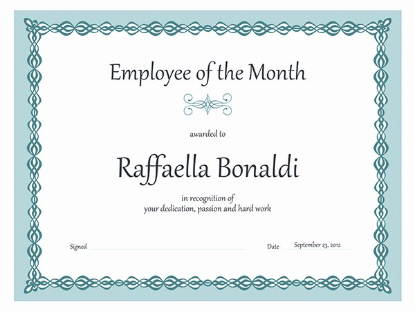 Employee Of the Month Plaque Template Awesome Lovely Certificate Award Of Employee Of the Month with