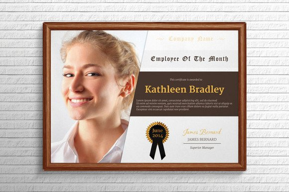 Employee Of the Month Plaque Template Beautiful 10 Great Looking Certificate Templates for All Occasions