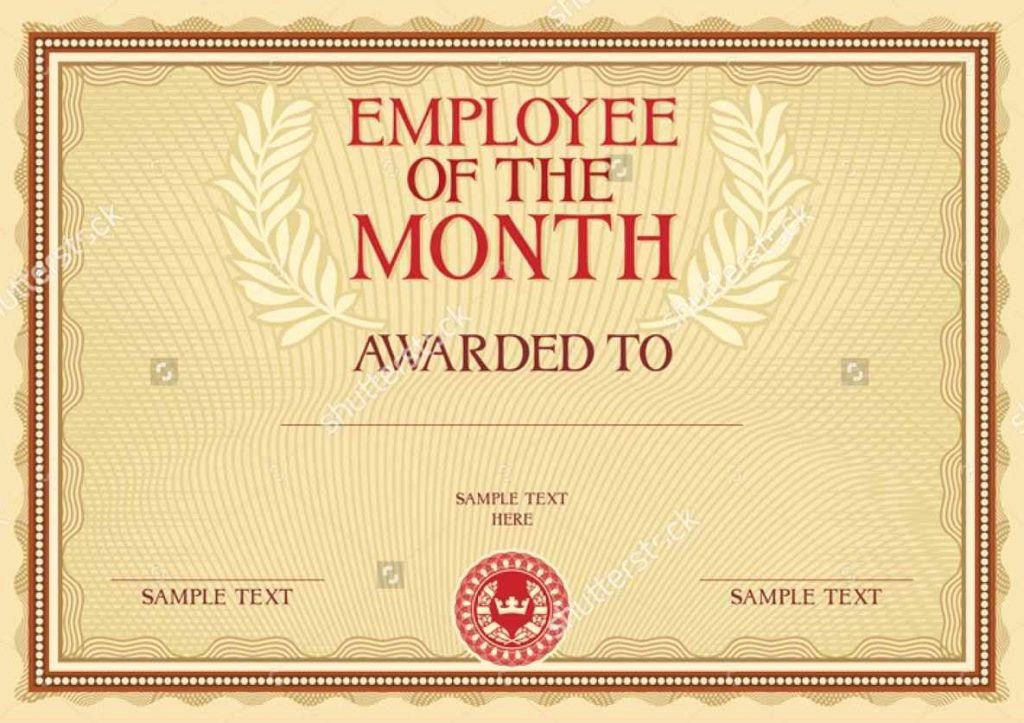 Employee Of the Month Plaque Template Best Of Employee the Month Award Template Template Update234