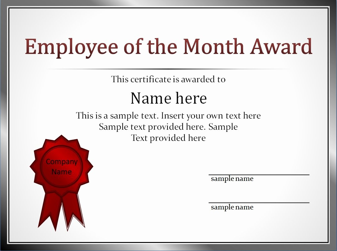 Employee Of the Month Plaque Template Inspirational Impressive Employee Of the Month Award and Certificate
