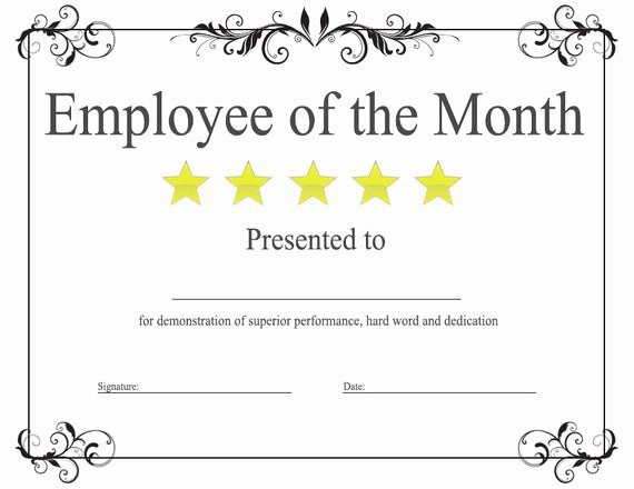 Employee Of the Month Plaque Template Lovely Items Similar to Employee Of the Month Award Template On Etsy