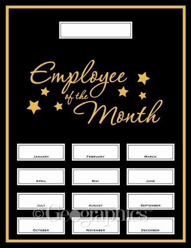 Employee Of the Month Plaque Template Luxury Employee Of the Month Award Kit 13 Pcs