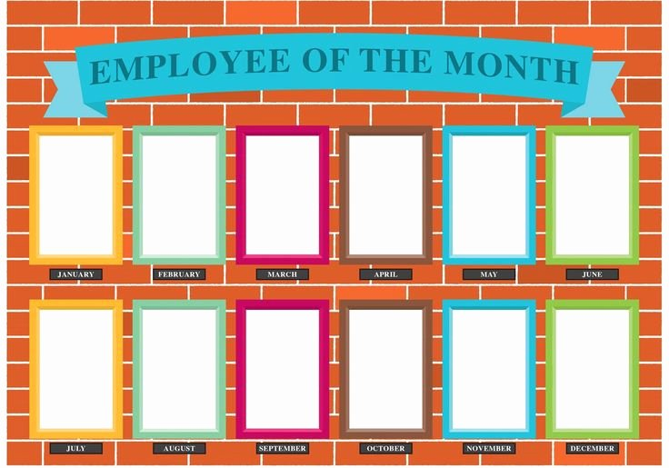 Employee Of the Month Poster Template Beautiful Employee Of the Month Wall Google Search