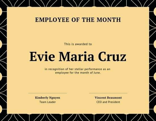 Employee Of the Month Poster Template Lovely Employee Of the Month Template Poster – Lapos