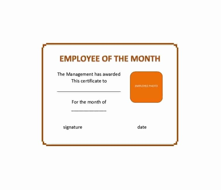 Employee Of the Month Templates Free Awesome 30 Printable Employee Of the Month Certificates