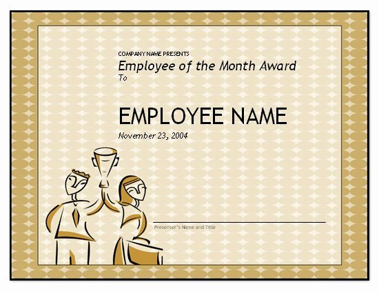 Employee Of the Month Templates Free Awesome Free Employee Of the Month Template for Employee