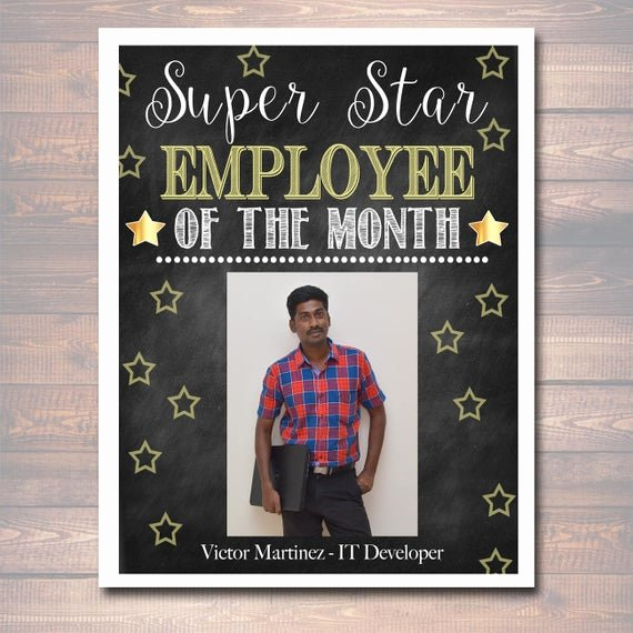 Employee Of the Month Templates Free Best Of Editable Employee Of the Month Printable Fice Printable
