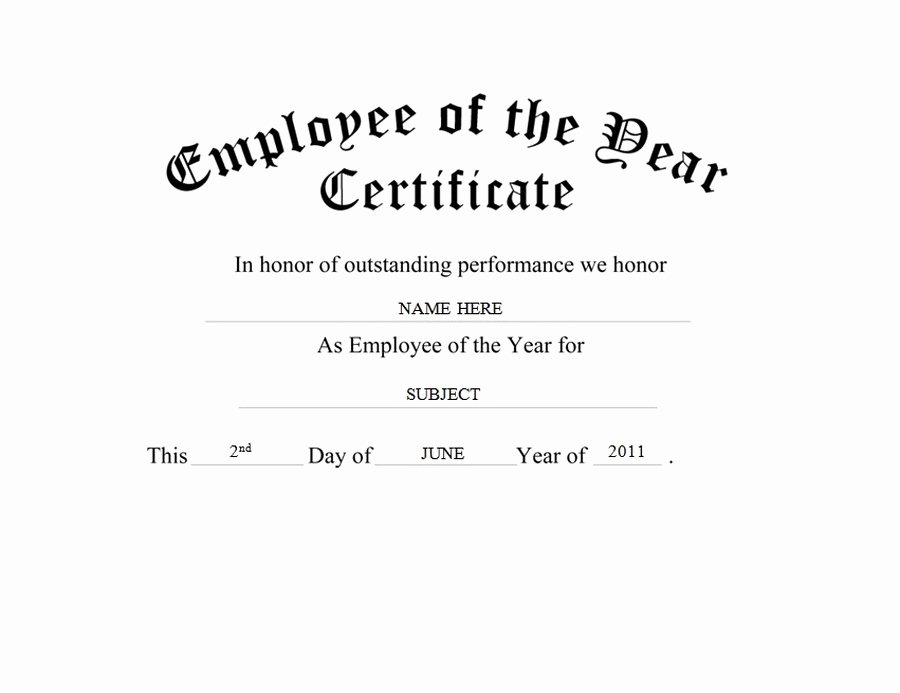 Employee Of the Year Award Template Elegant Geographics Certificates