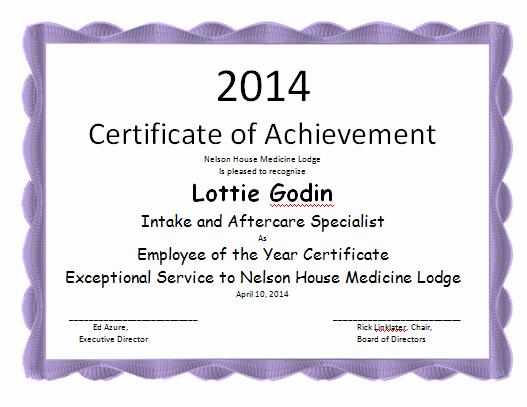Employee Of the Year Award Template Fresh Employee the Year Certificate Template Microsoft Word