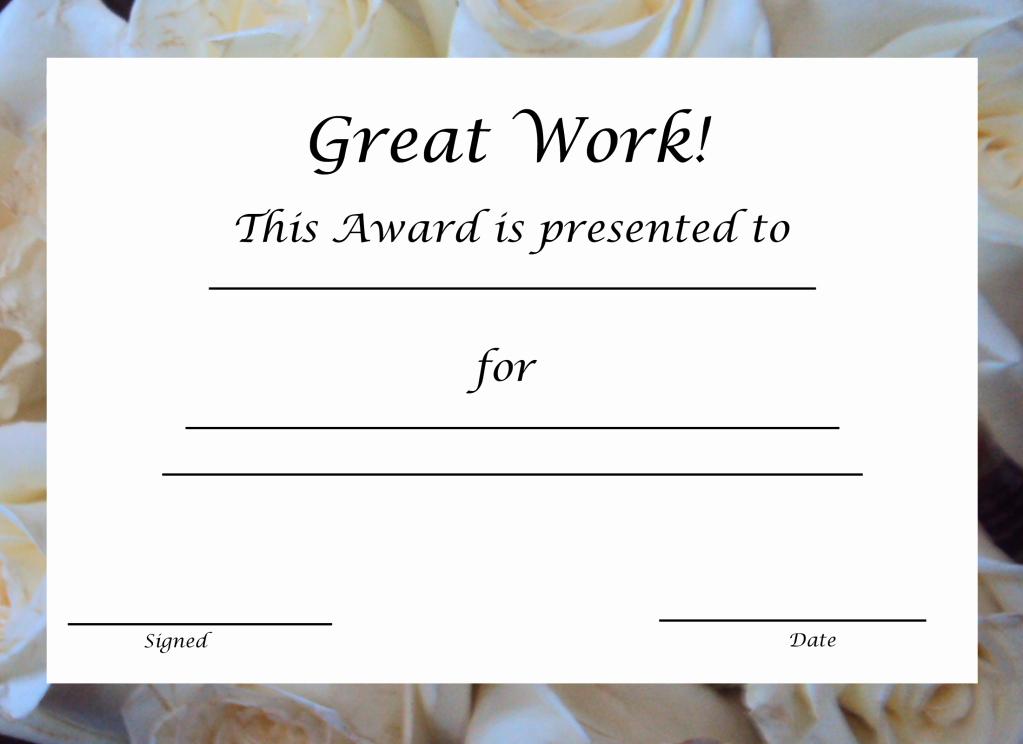 Employee Of the Year Award Template Fresh Free Printable Award Certificate Template