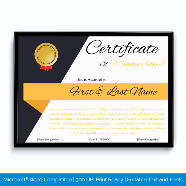 Employee Of the Year Award Template New Award Certificate Cross Box 3d Illusion Word Layouts