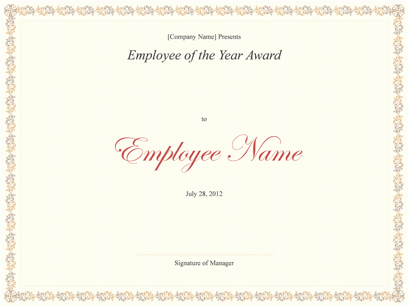 Employee Of the Year Award Template Unique Employee Of the Year Award Templates
