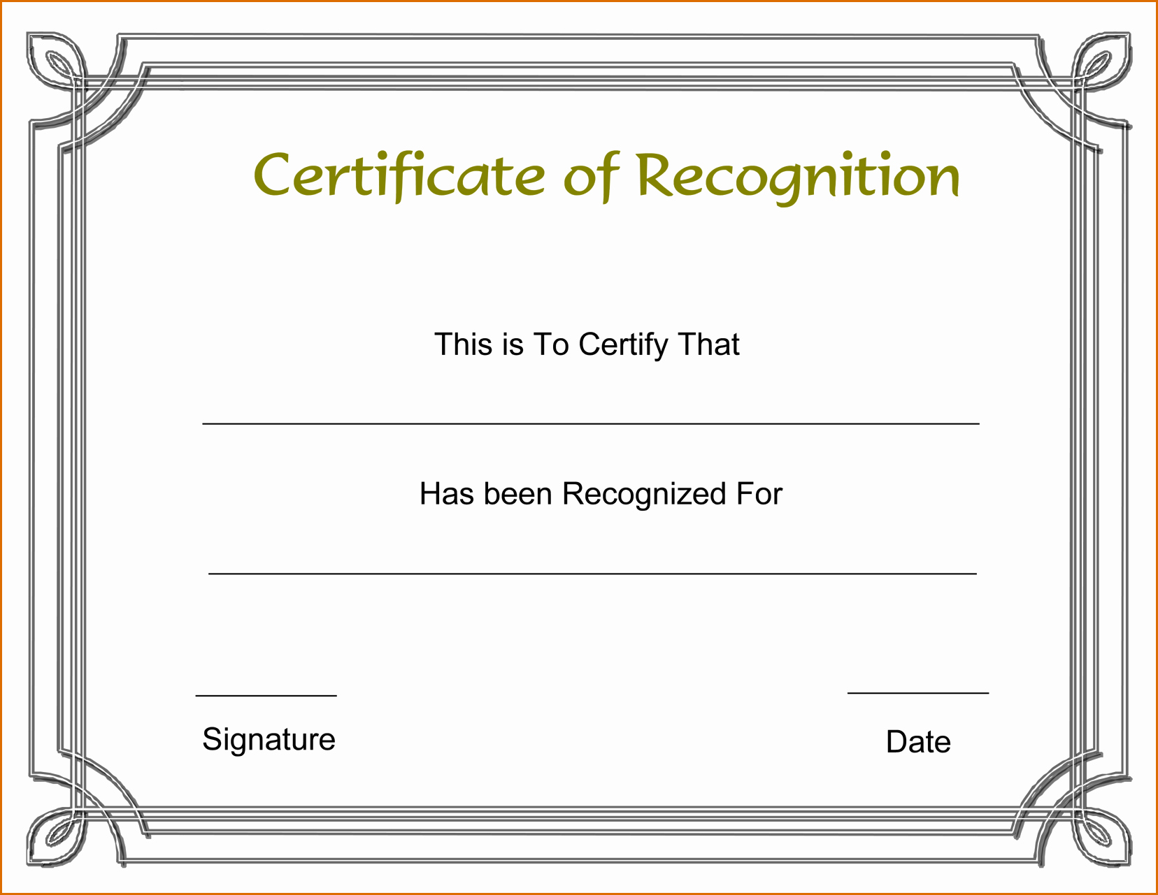 Employee Recognition Cards Printable Elegant 13 Certificate Of Recognition Template