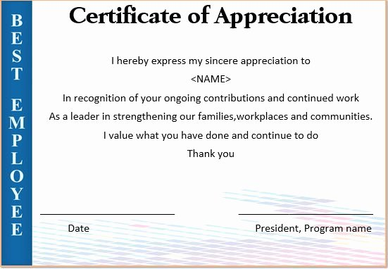 Employee Recognition Cards Printable Inspirational Certificate Appreciation for Employees – Printable