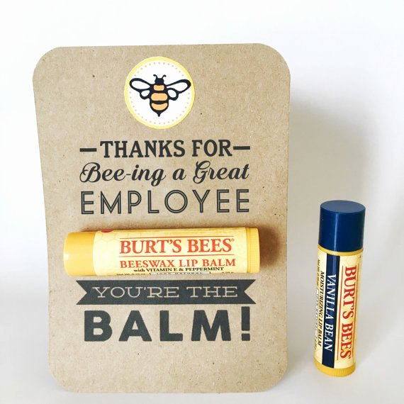Employee Recognition Cards Printable Lovely Employee Appreciation Gift You Re the Balm Chapstick
