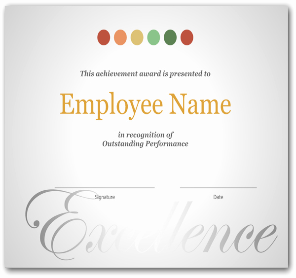 Employee Recognition Cards Printable Luxury Employee Recognition Award