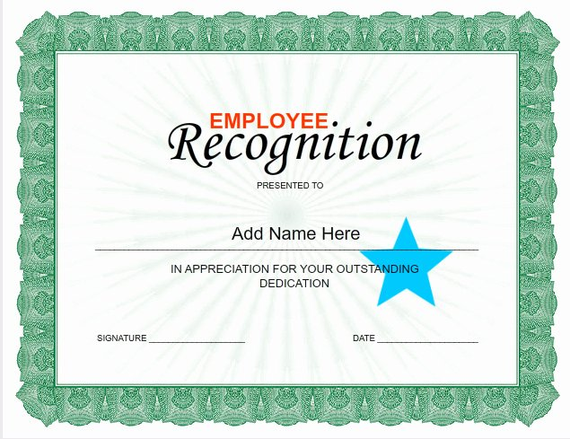 Employee Recognition Cards Printable New Employee Certificates Use I Nprint Certificate Templates