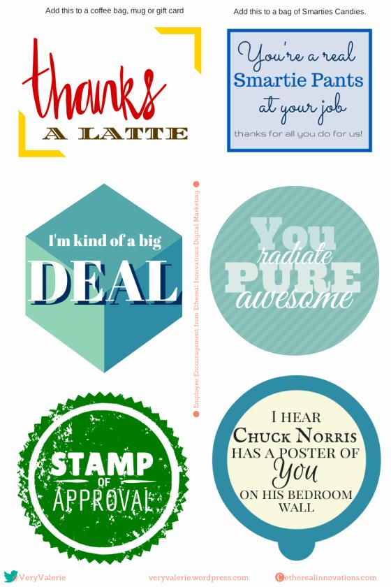 Employee Recognition Cards Printable Unique Employee Encouragement