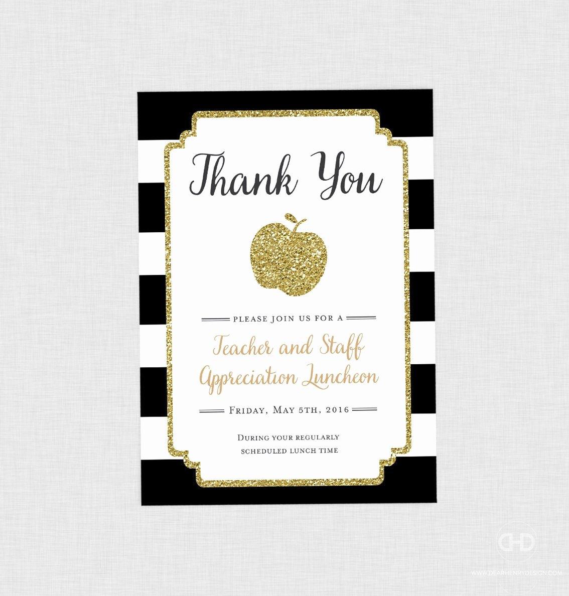 Employee Recognition Cards Template Fresh Teacher Appreciation Invitation Apple Printable Teacher