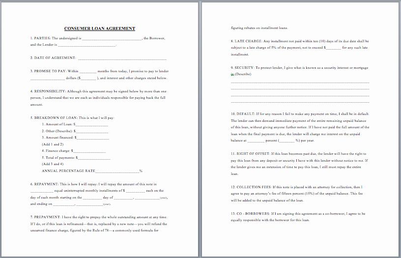 Employees Loan Agreement Fresh Free Employee Loan Agreement Templates Download Free