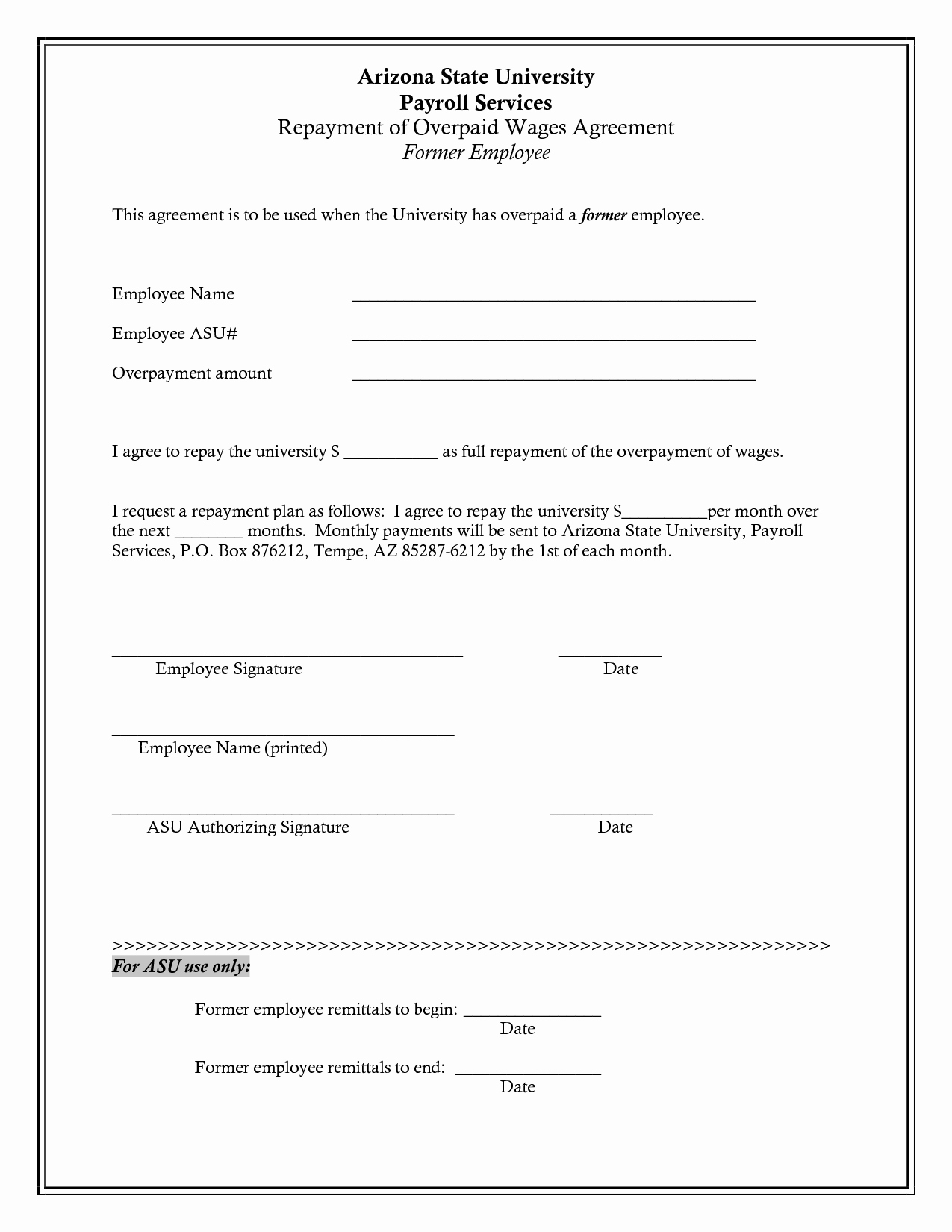 Employees Loan Agreement Luxury Salary Advance Repayment Agreement
