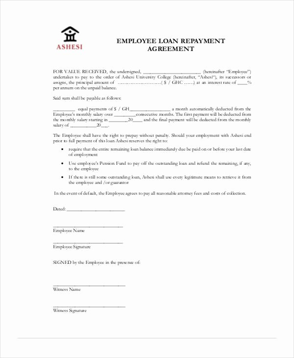 Employees Loan Agreement Unique Free 37 Free Loan Agreement forms