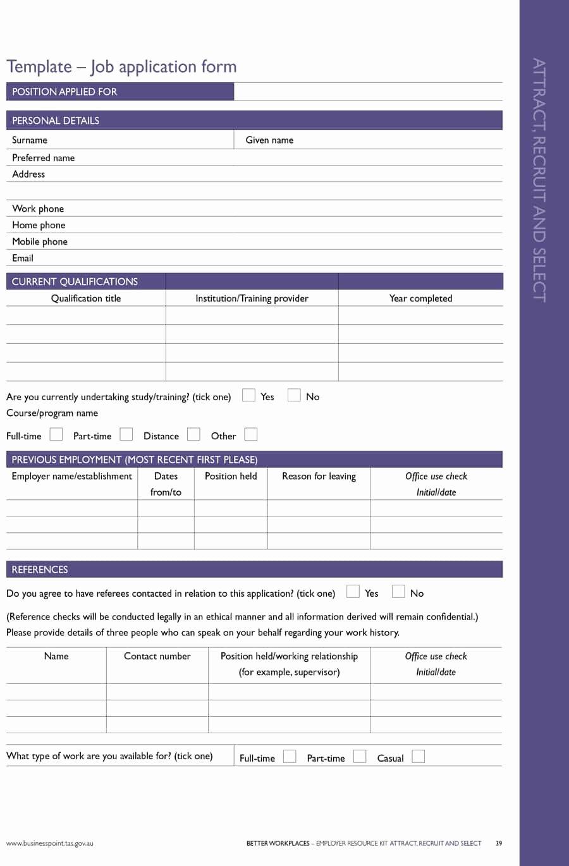Employer Application Template New 50 Free Employment Job Application form Templates