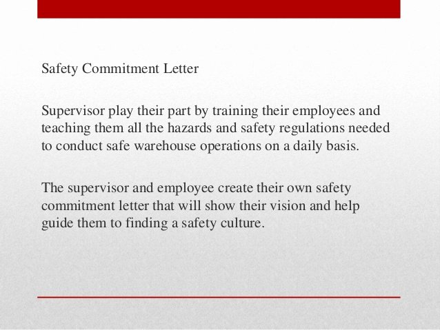 Employment Commitment Letter New Building A Safety Culture