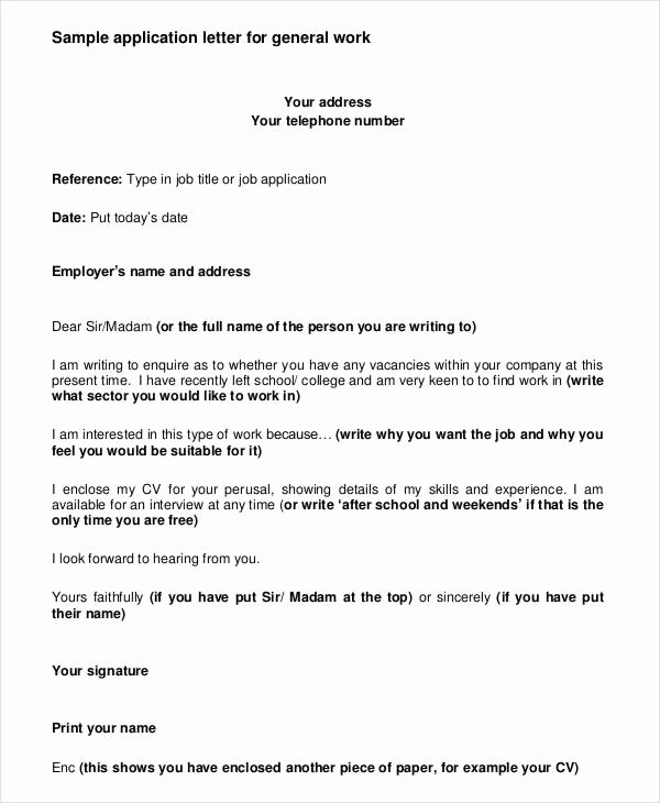 Employment Letter for Visa Application Inspirational 10 Job Application Letter Templates for Employment Pdf