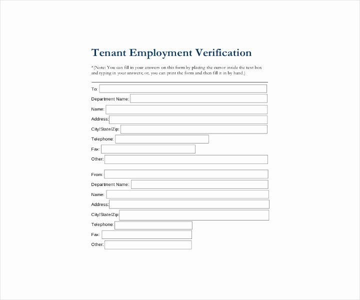 Employment Verification form Texas Awesome 9 Employment Verification forms Free Pdf Doc format