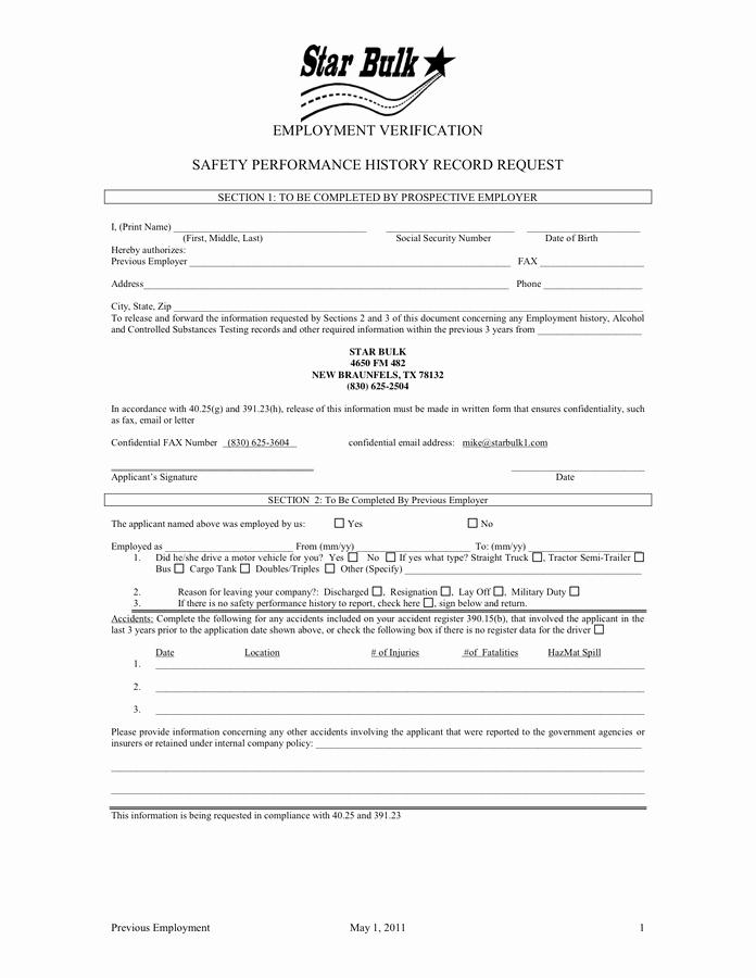Employment Verification form Texas Best Of Employment Verification In Word and Pdf formats