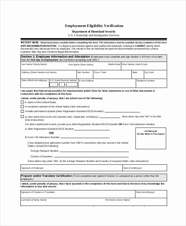 Employment Verification form Texas New Background Check form Template Free