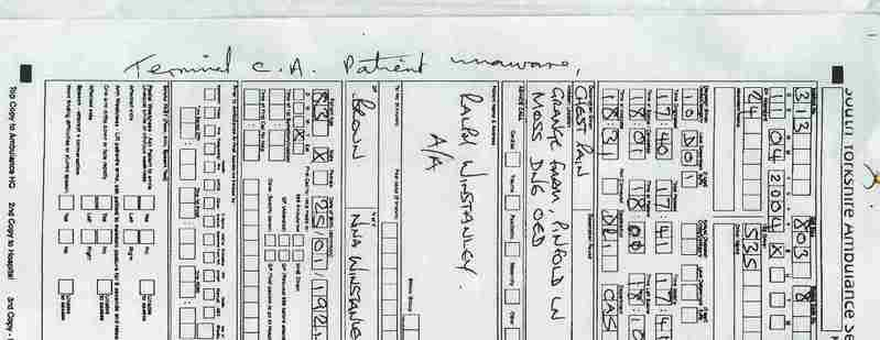 Ems Patient Care Report forms Best Of No 25 Ambulance Patient Report form Terminal Ca Patient