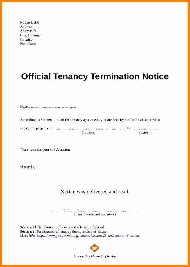 End Of Lease Letter to Tenant Inspirational 5 End Of Lease Letter to Tenant