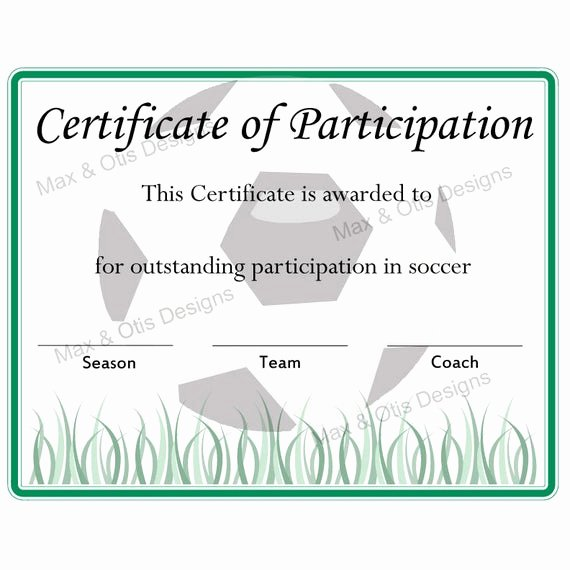 End Of Season soccer Awards Ideas Lovely soccer Certificate Of Participation Certificate by Maxandotis